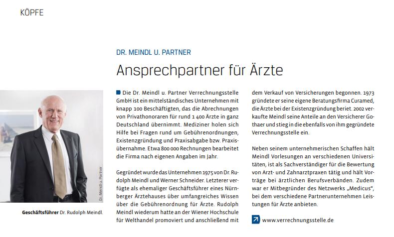 50 Jahre IHK Mitgliedschaft Dr. Rudolph Meindl - Porträt im WiM-Magazin