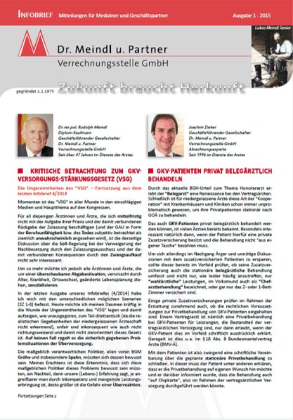 Bild Infobrief 47 Dr. Meindl u. Partner Verrechnungsstelle