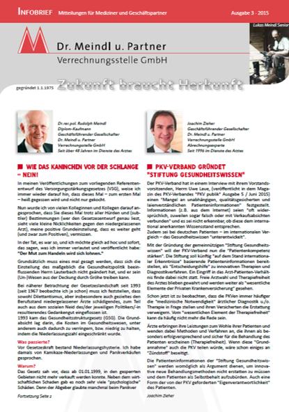 Bild Infobrief 49 Dr. Meindl u. Partner Verrechnungsstelle