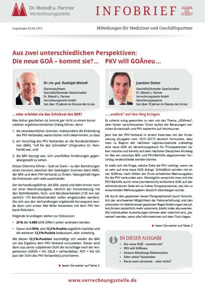 Bild Infobrief 55 Dr. Meindl u. Partner Verrechnungsstelle