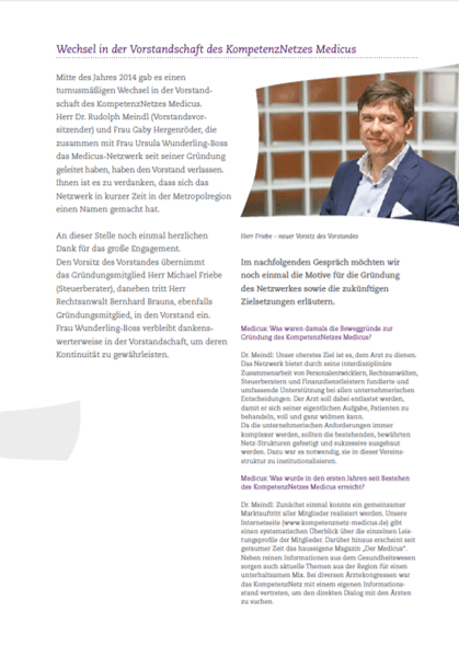 Bild Interview Dr. Meindl Der Medicus No 03